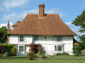 Henden Place, a fine Wealden hall house on the Green